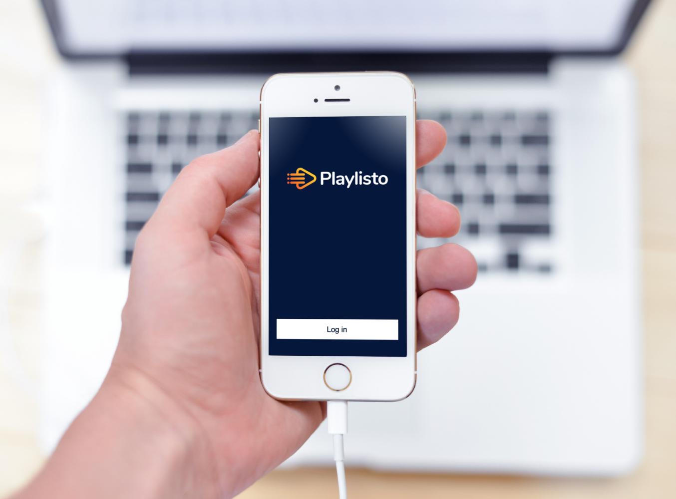 Sample branding #2 for Playlisto