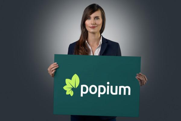 Sample branding #1 for Popium