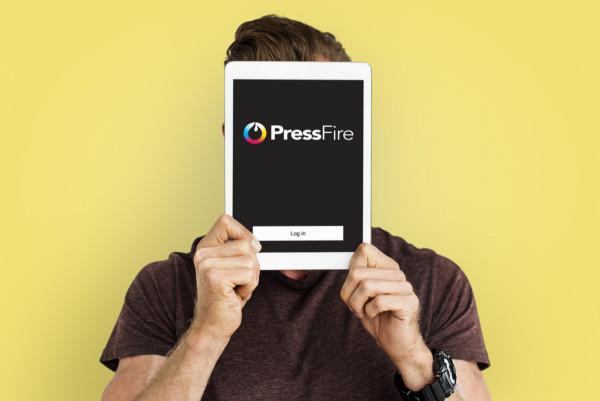 Sample branding #3 for Pressfire