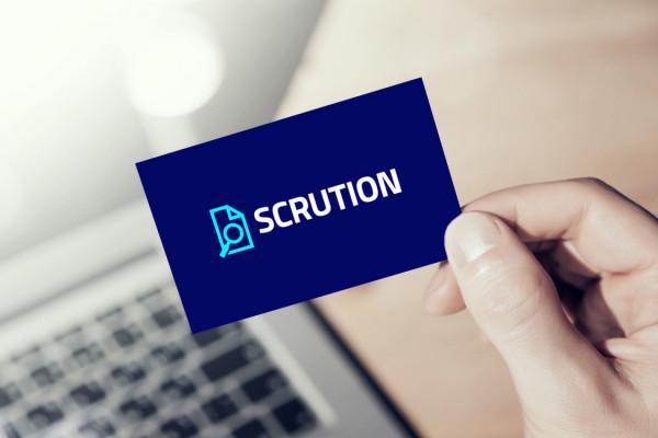 Sample branding #3 for Scrution
