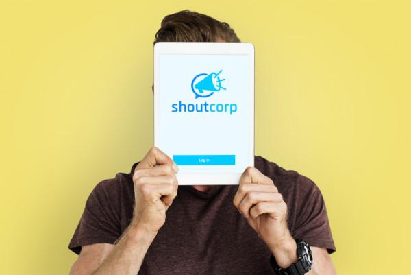 Sample branding #2 for Shoutcorp