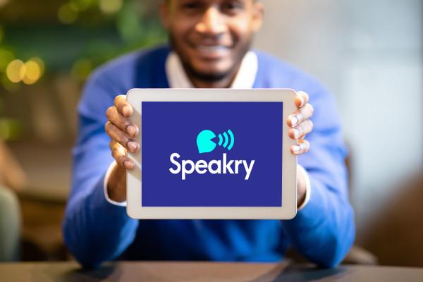 Sample branding #1 for Speakry