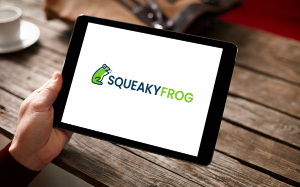 Sample branding #1 for Squeakyfrog