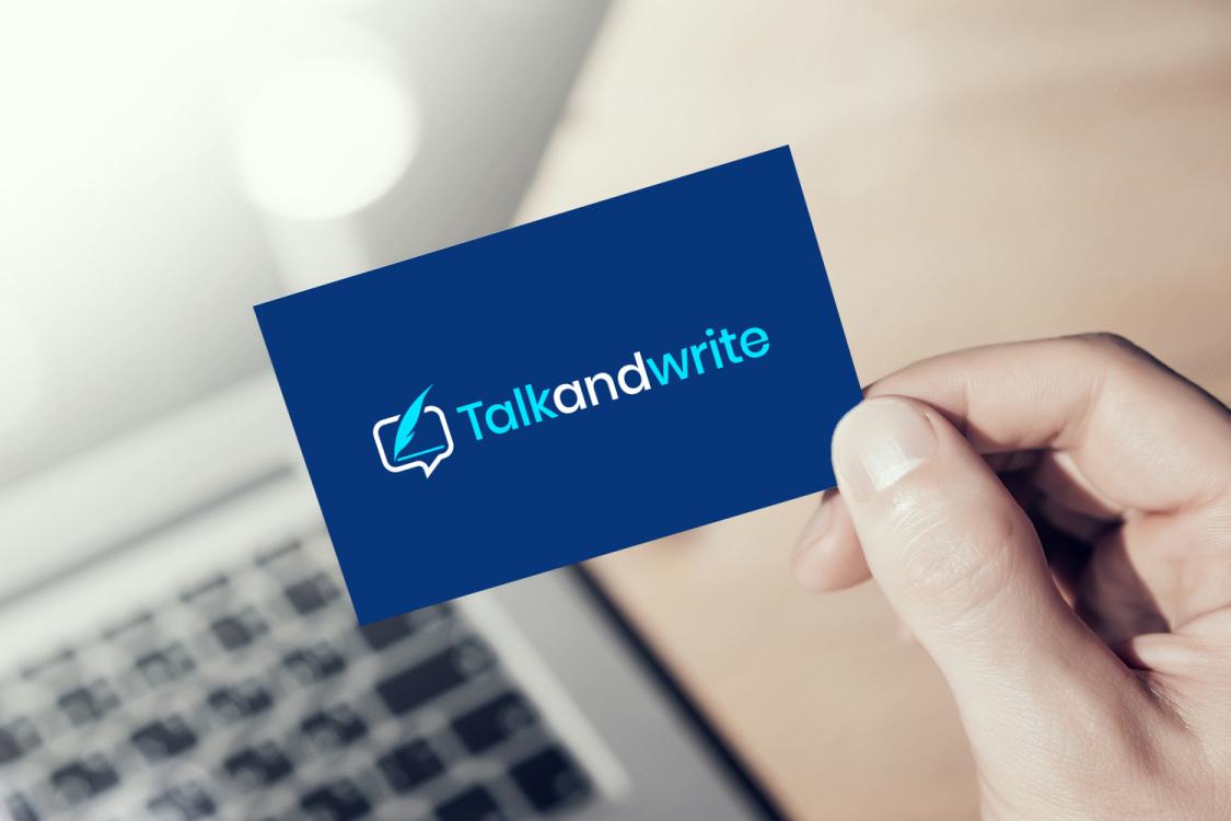 Sample branding #2 for Talkandwrite
