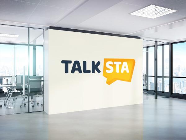 Sample branding #1 for Talksta