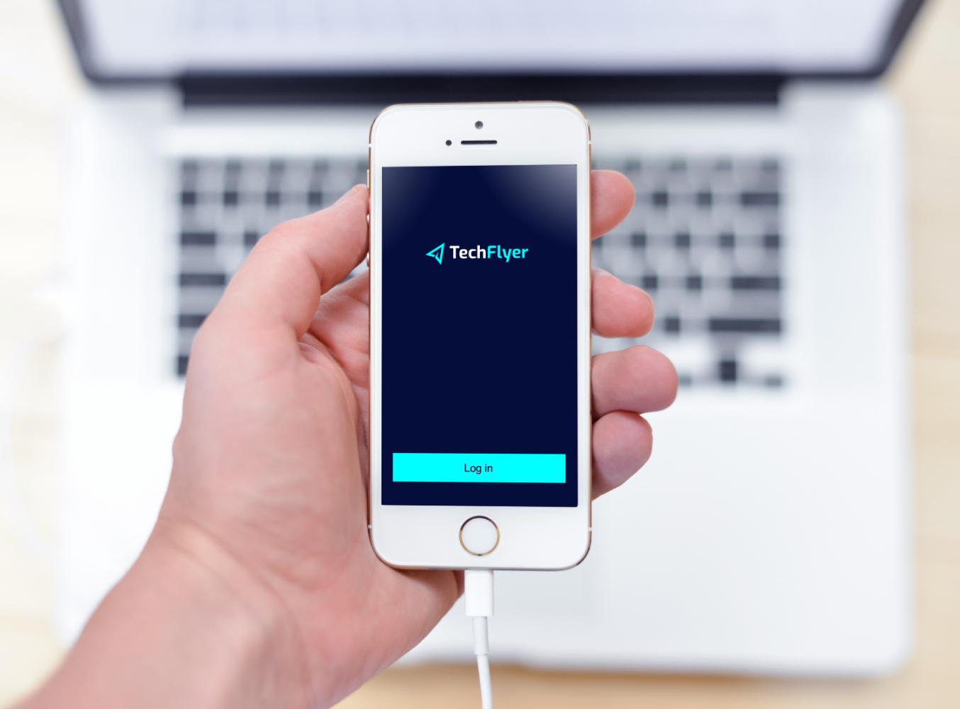 Sample branding #1 for Techflyer