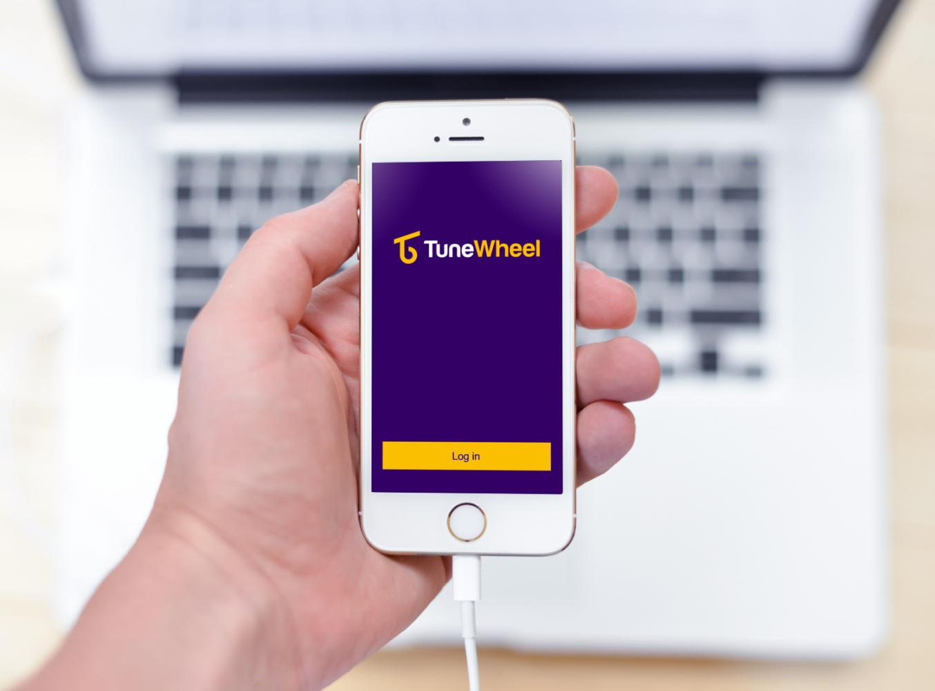 Sample branding #2 for Tunewheel