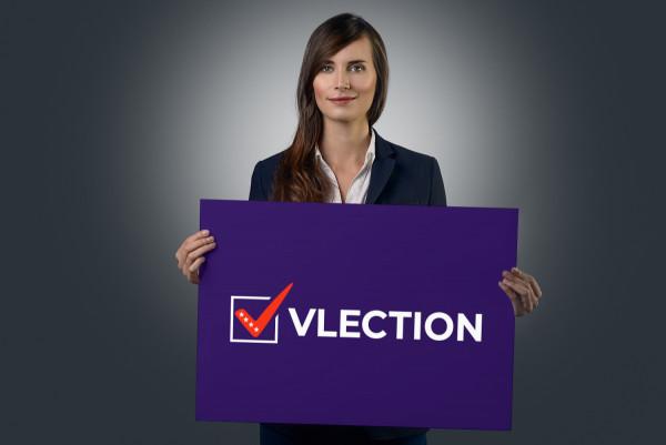 Sample branding #1 for Vlection