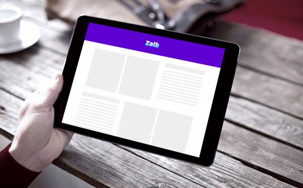 Sample branding #1 for Zalb