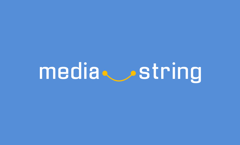 mediastring logo - Business name for a company in the media industry