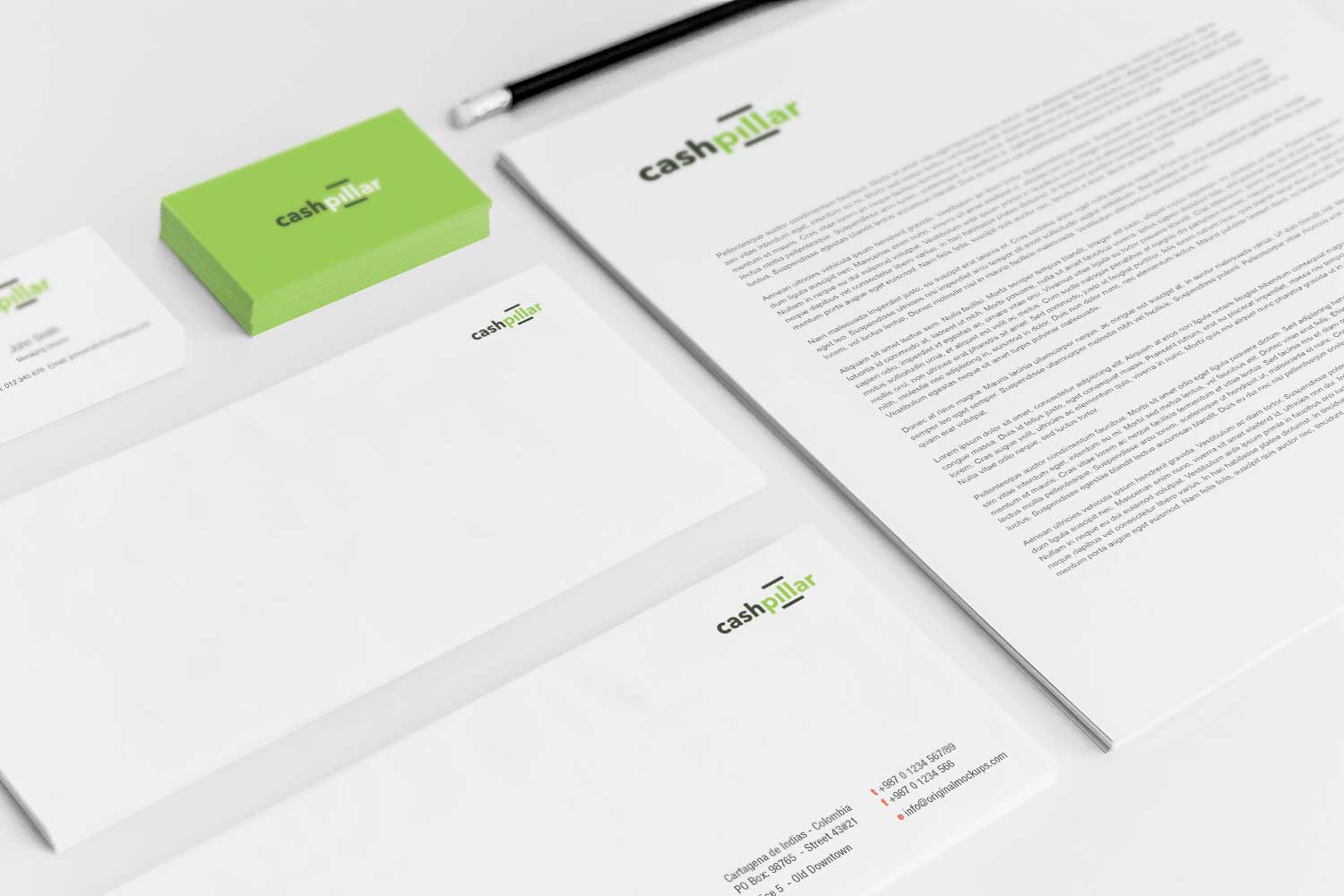 Sample branding #3 for Cashpillar