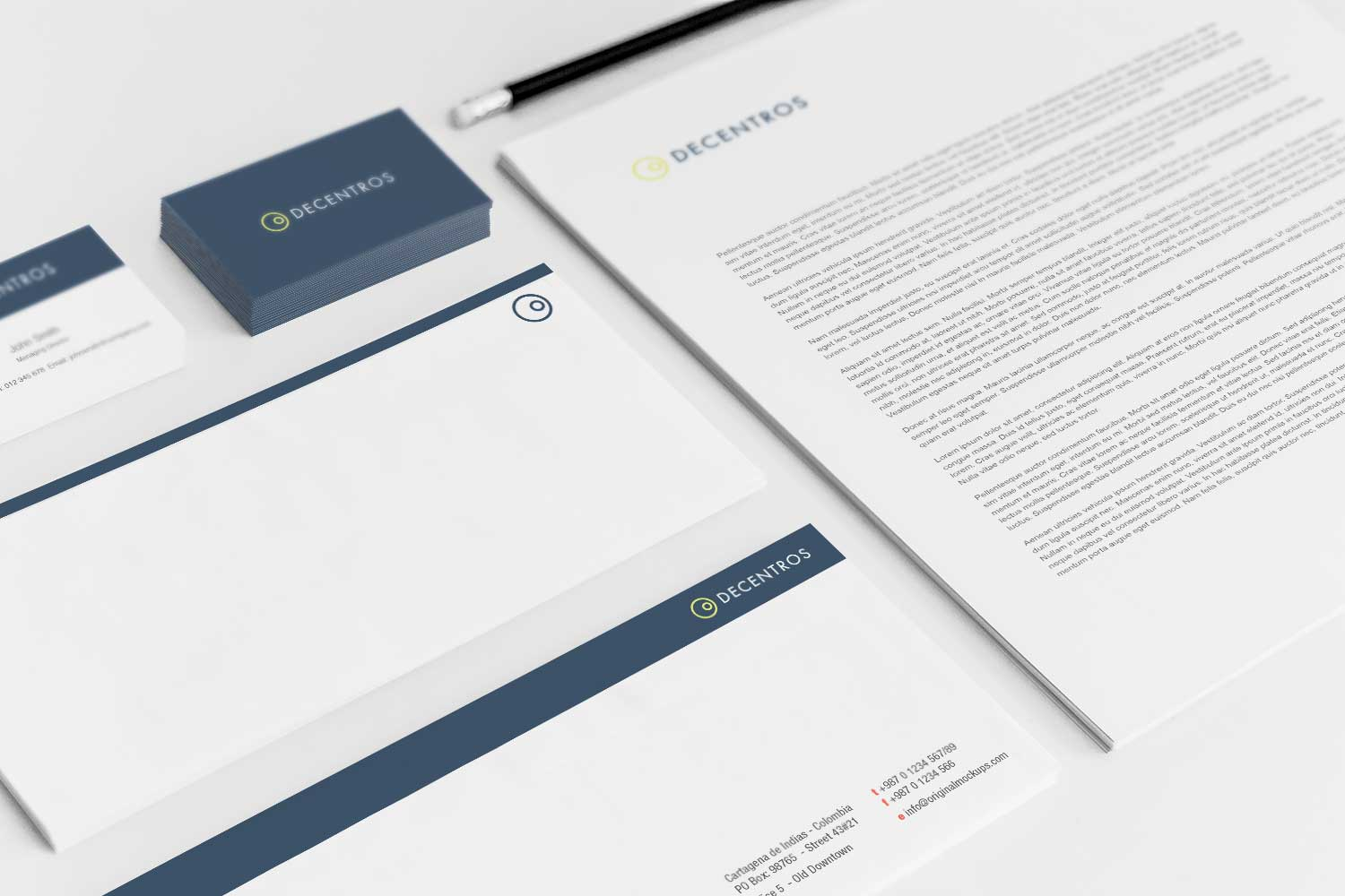 Sample branding #3 for Decentros