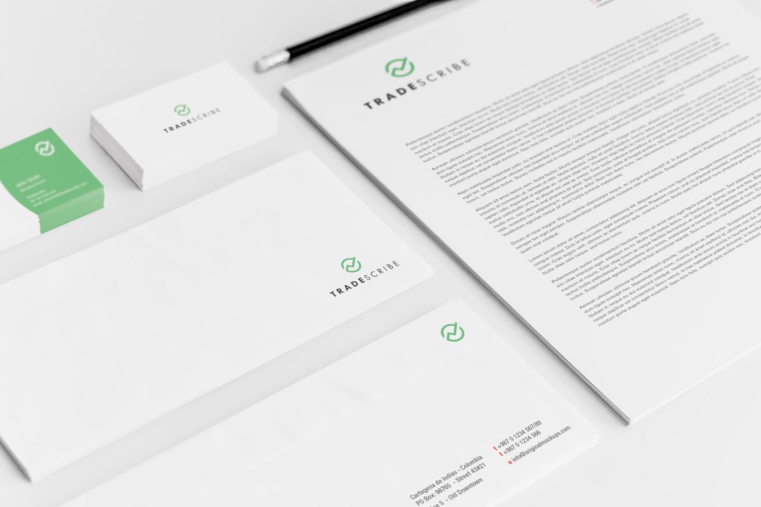 Sample branding #1 for Tradescribe