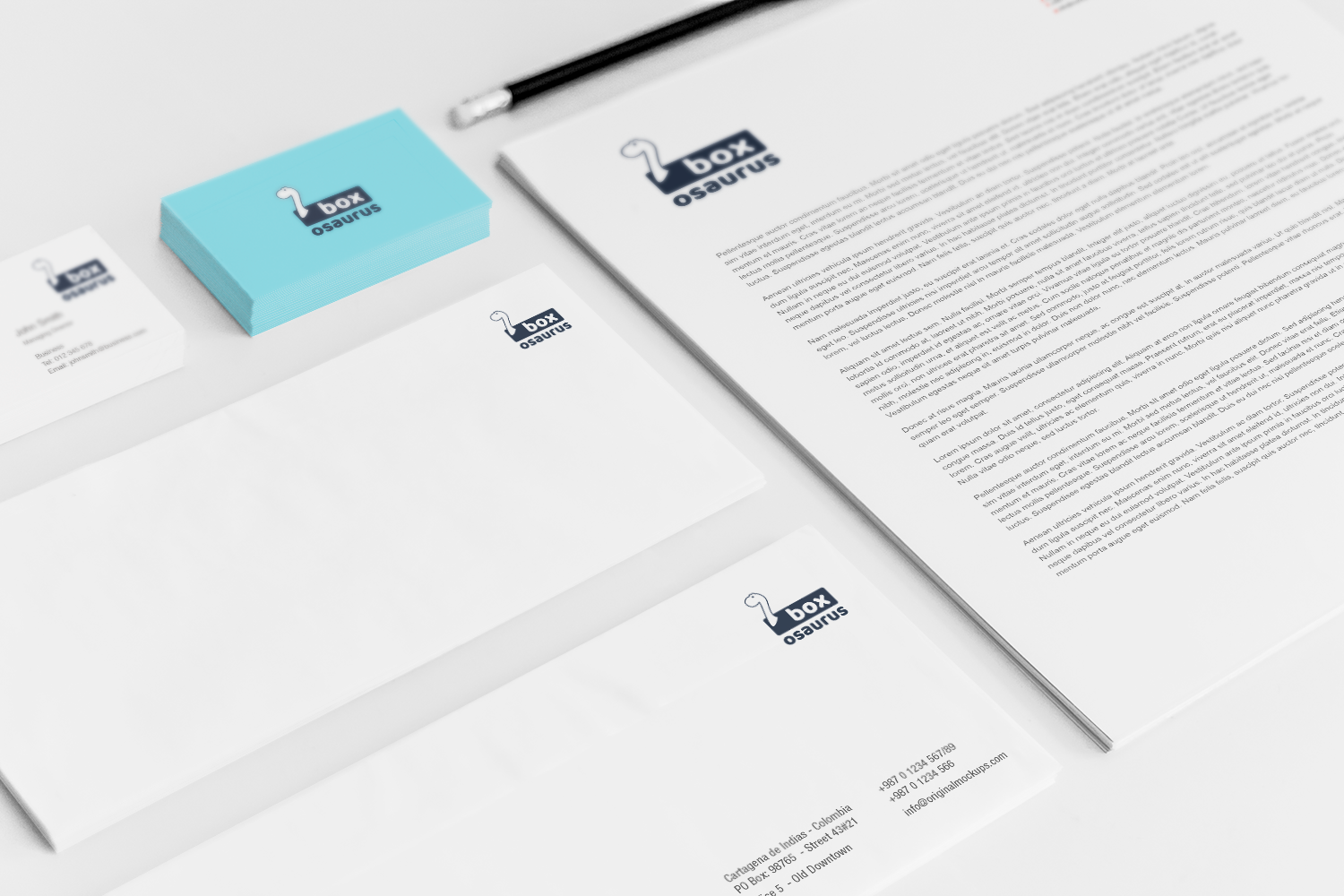 Sample branding #3 for Boxosaurus