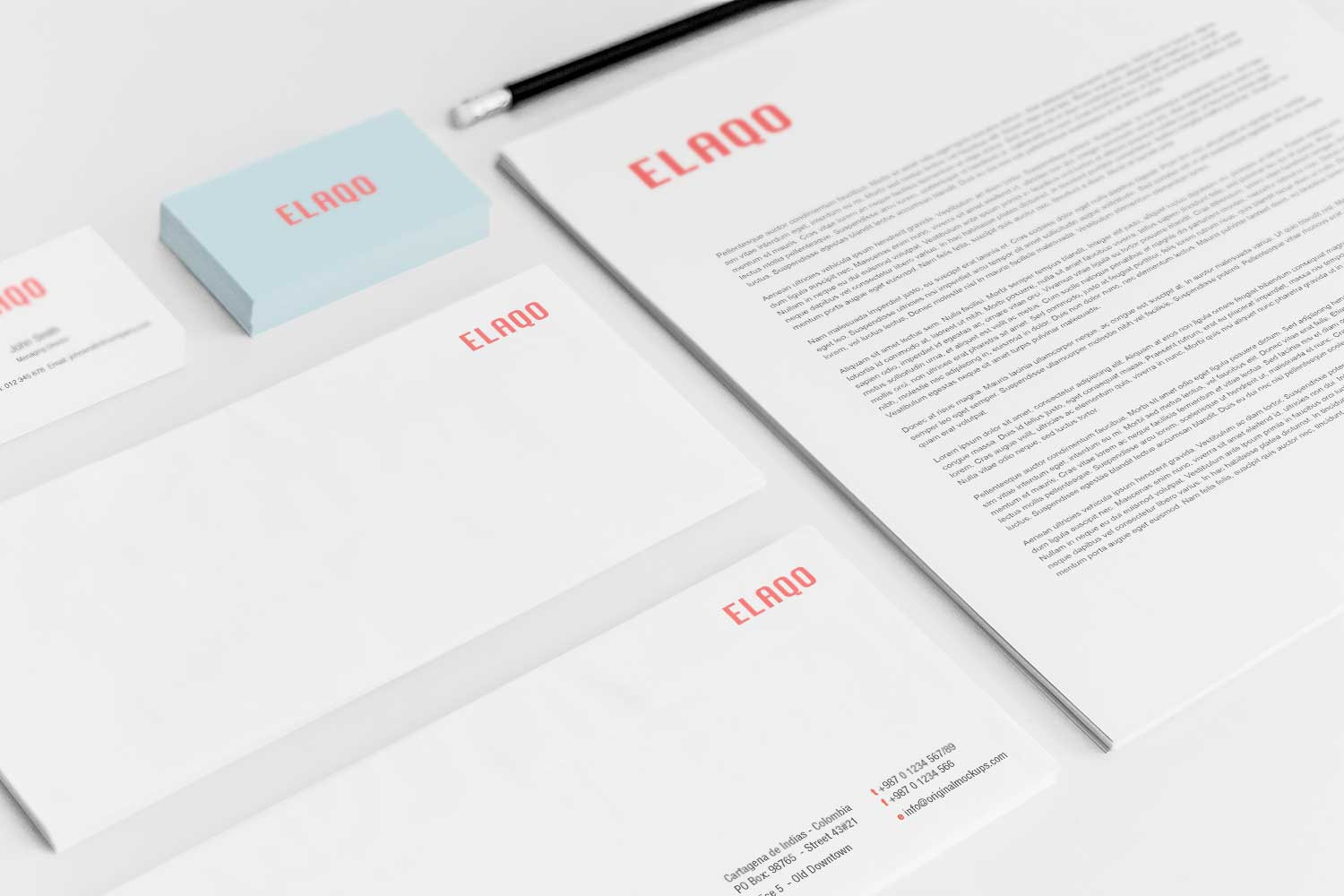 Sample branding #3 for Elaqo