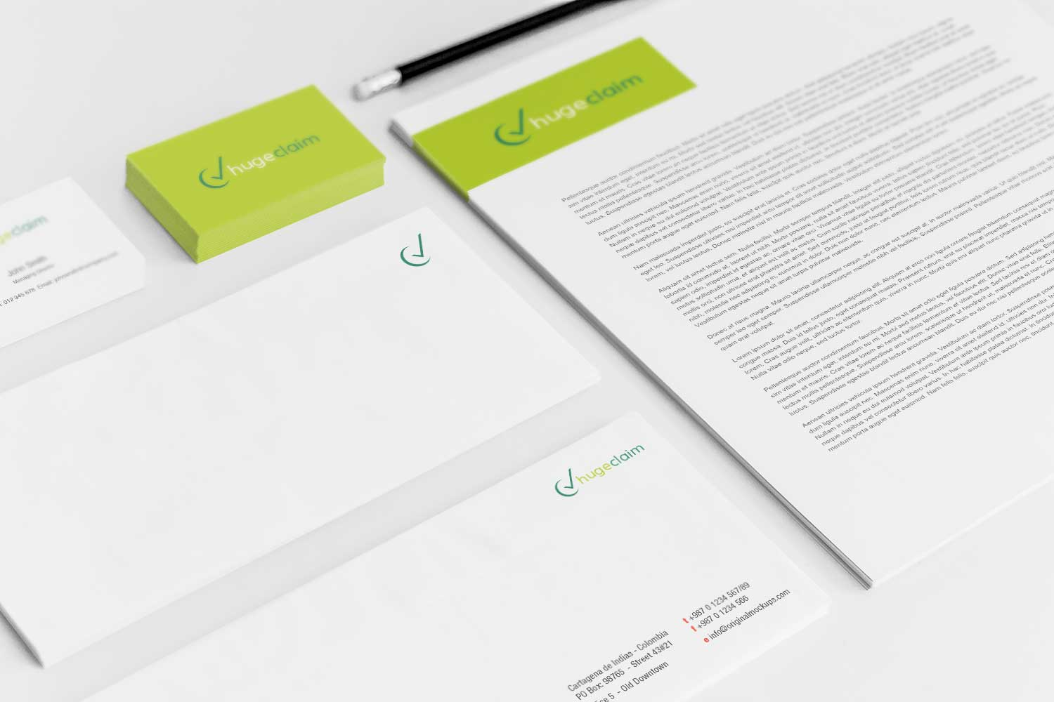 Sample branding #3 for Hugeclaim