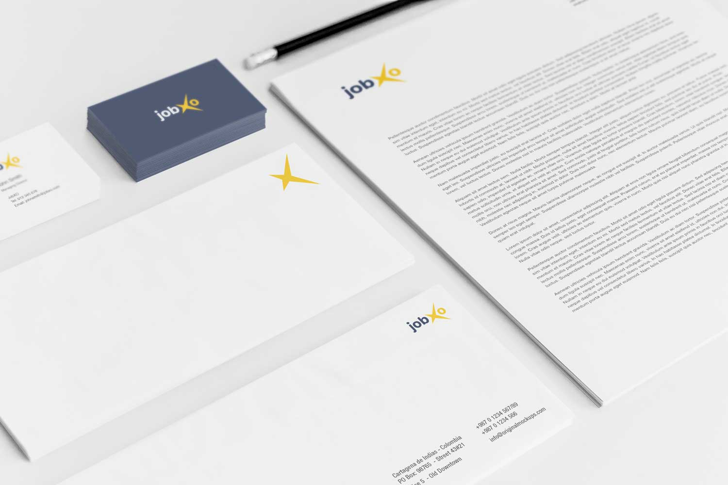 Sample branding #3 for Jobxo