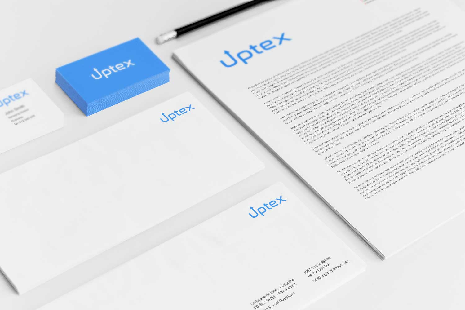 Sample branding #3 for Uptex