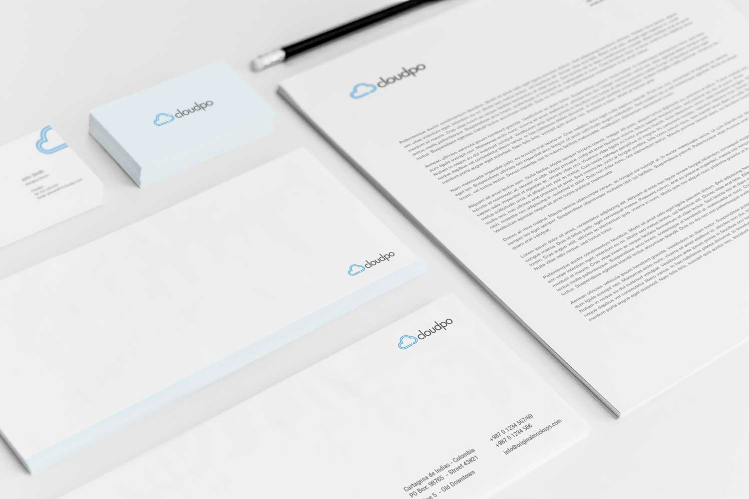 Sample branding #2 for Cloudpo