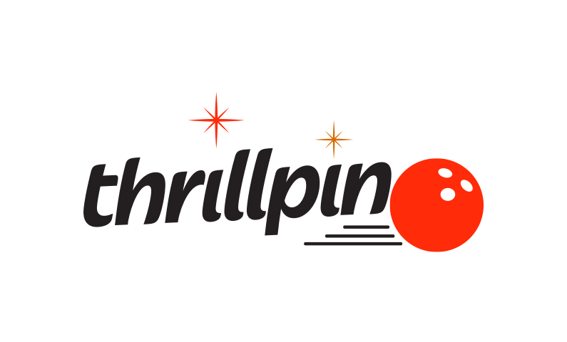 thrillpin logo - Fantastic name for a bowling or games company