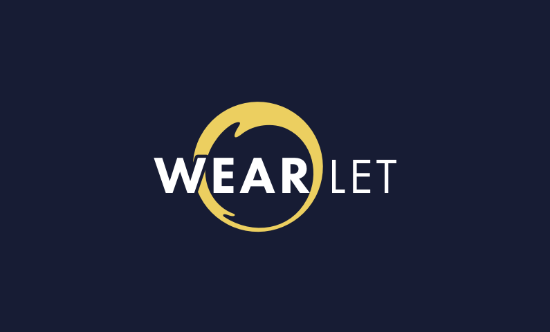 wearlet logo - Business name for a company in the smart wearable industry