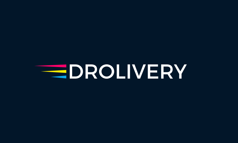 Drolivery logo - Strong business name for a drone delivery company