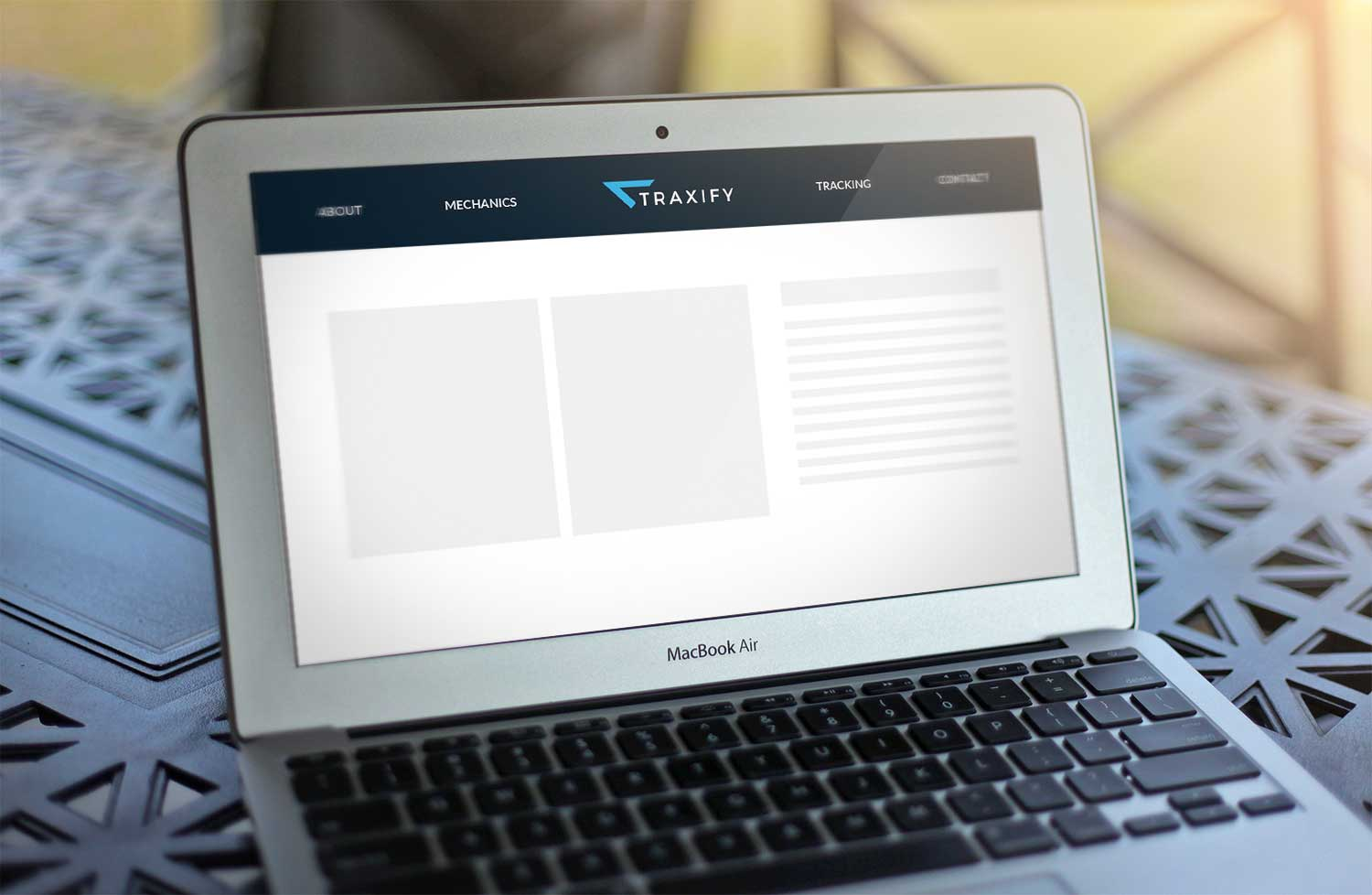 Sample branding #2 for Traxify