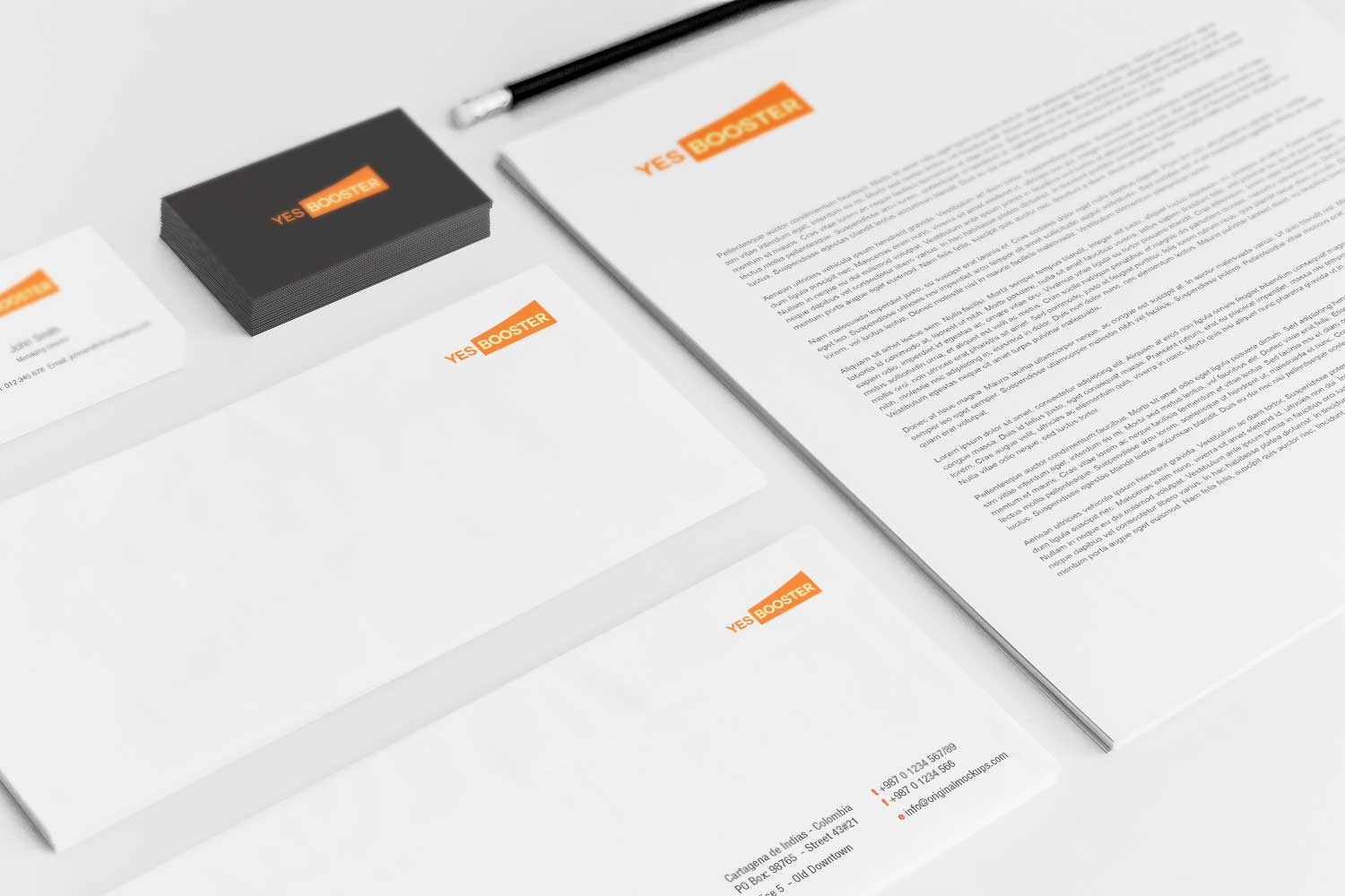 Sample branding #3 for Yesbooster