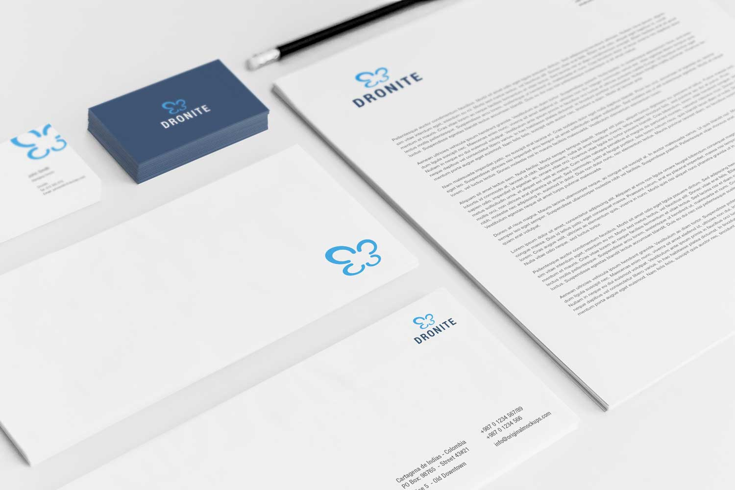 Sample branding #2 for Dronite