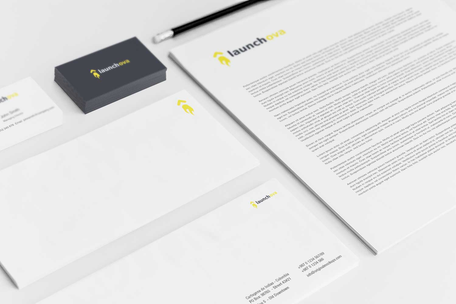 Sample branding #3 for Launchova