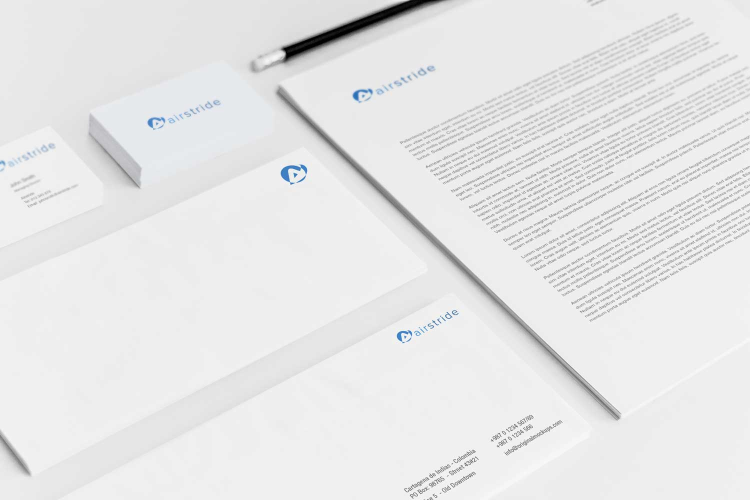 Sample branding #2 for Airstride
