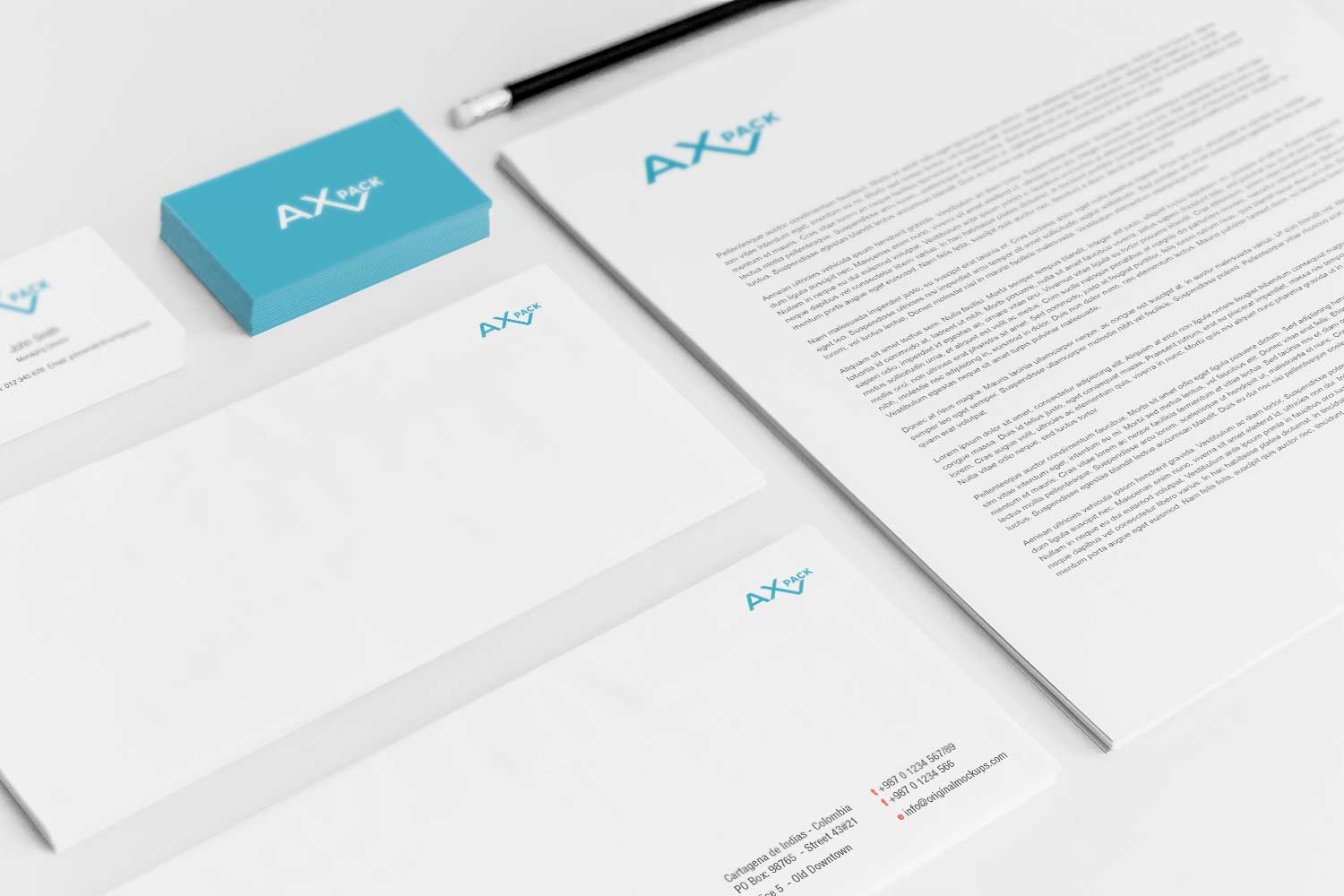 Sample branding #3 for Axpack