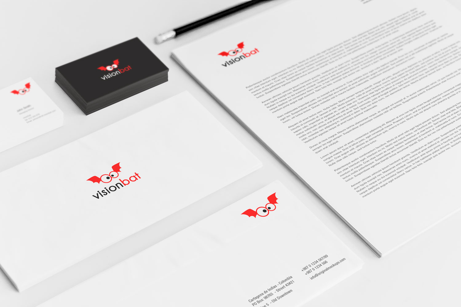 Sample branding #3 for Visionbat
