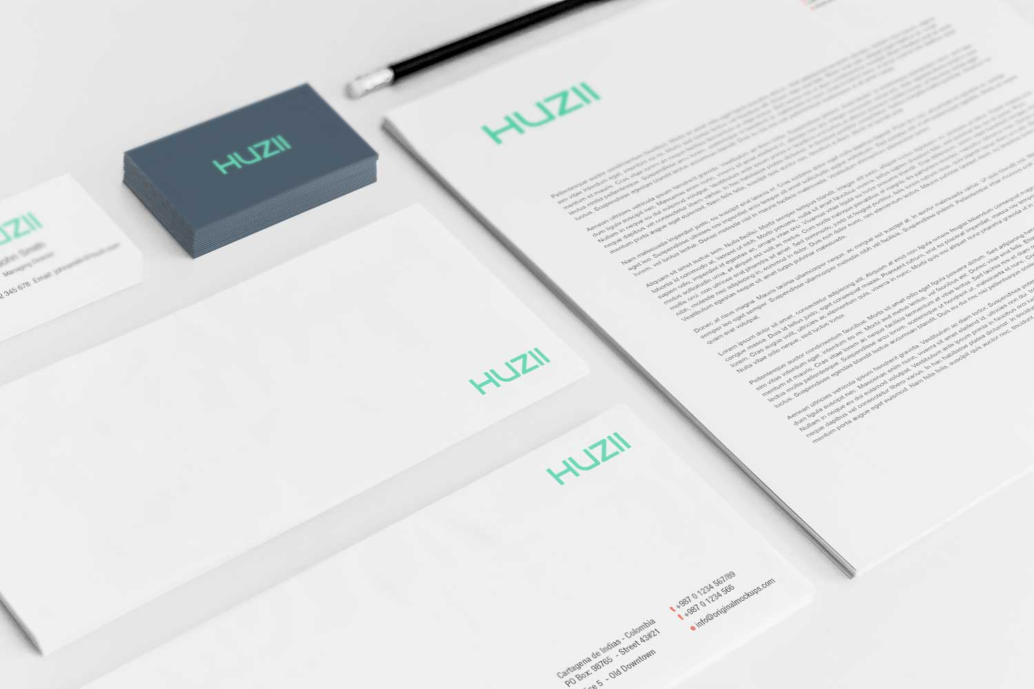 Sample branding #3 for Huzii
