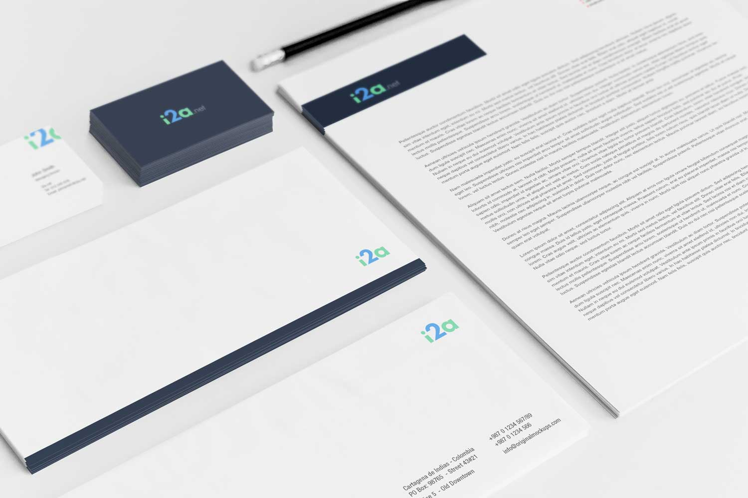 Sample branding #2 for I2a