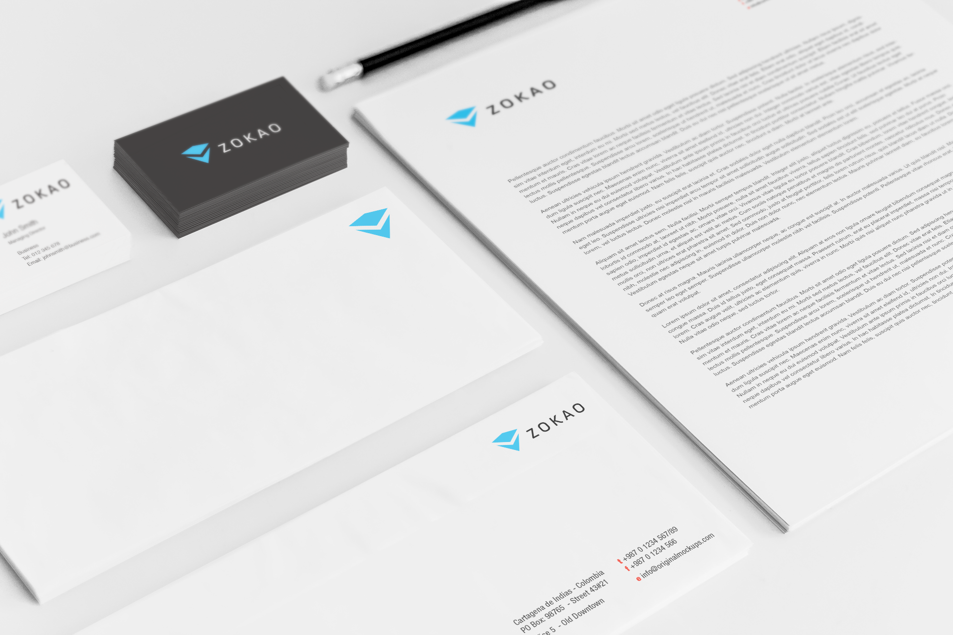 Sample branding #3 for Zokao