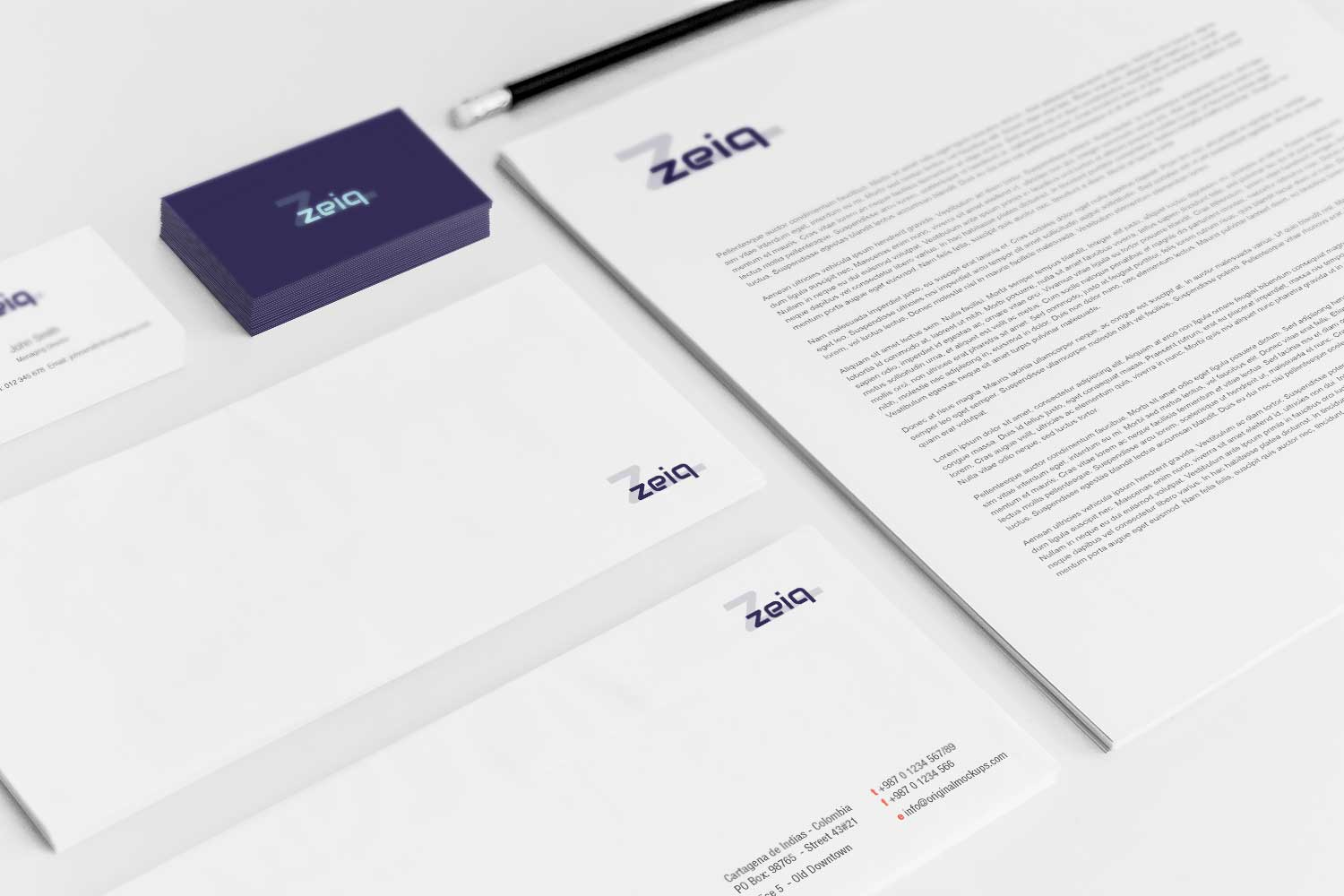 Sample branding #3 for Zeiq