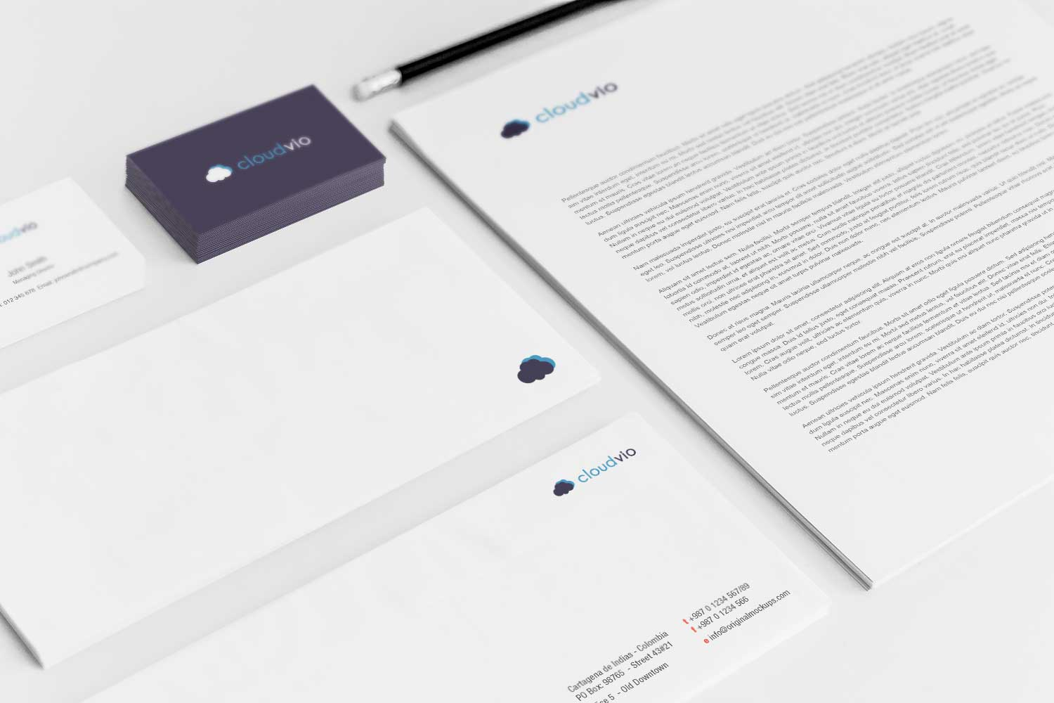 Sample branding #3 for Cloudvio