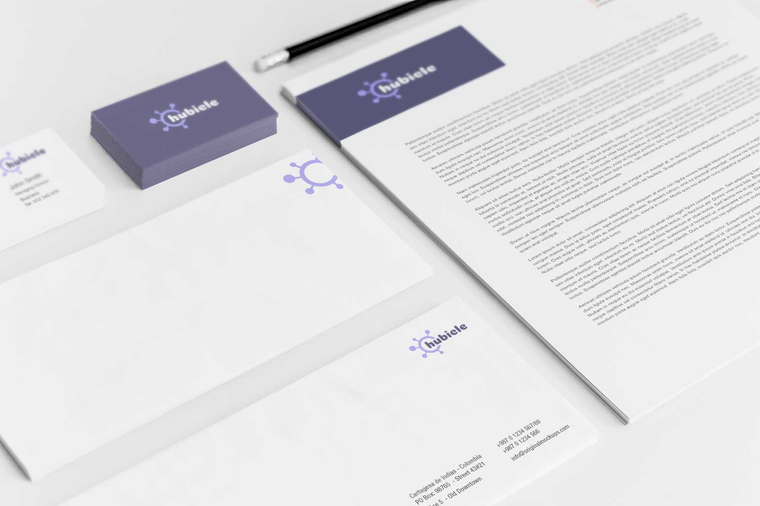 Sample branding #3 for Hubicle