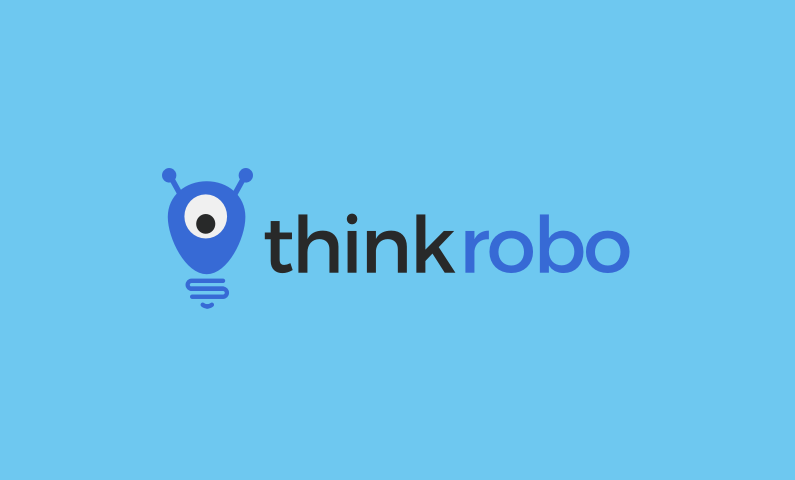 ThinkRobo logo - Business name for a company in the tech industry