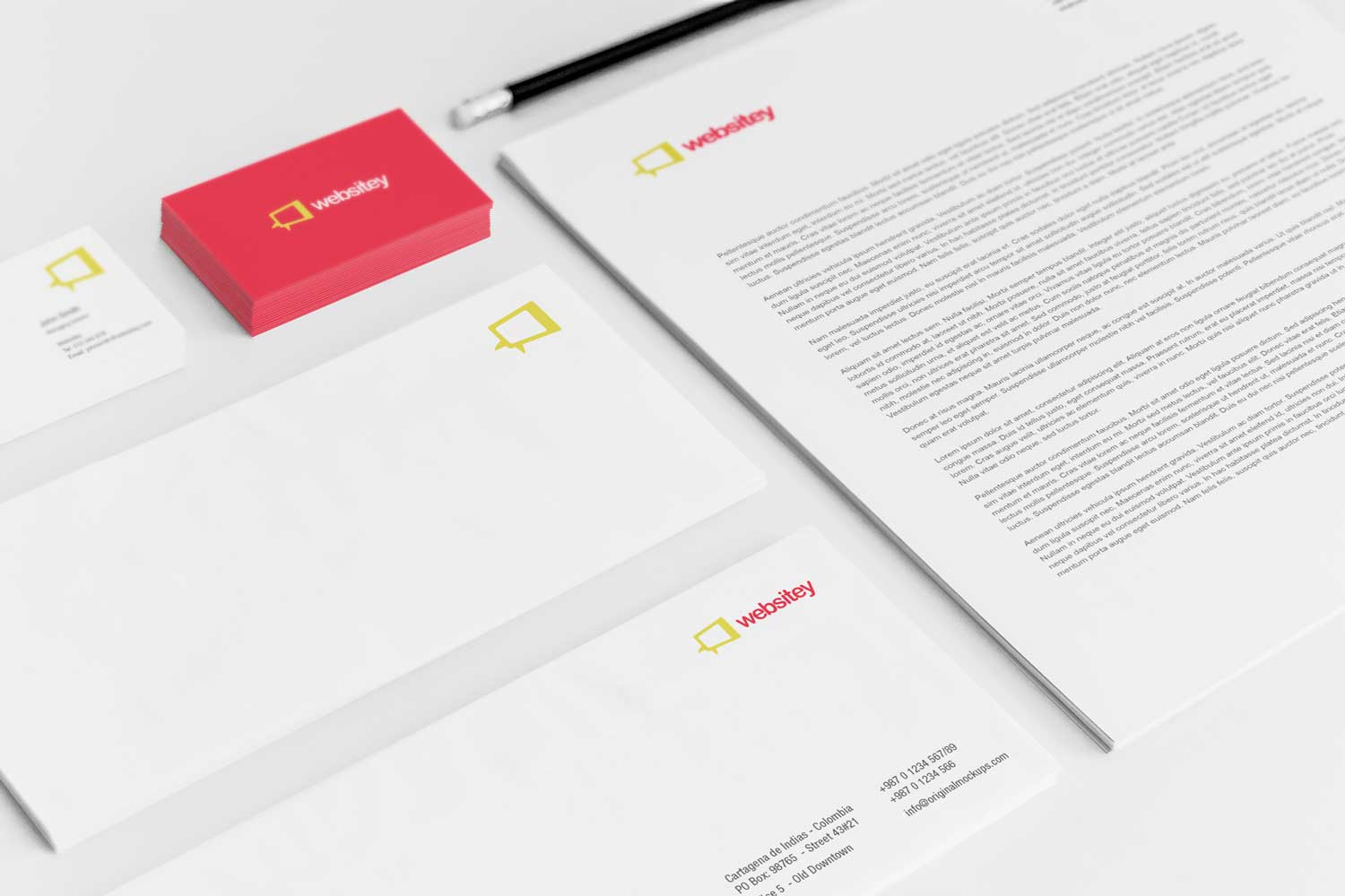 Sample branding #3 for Websitey