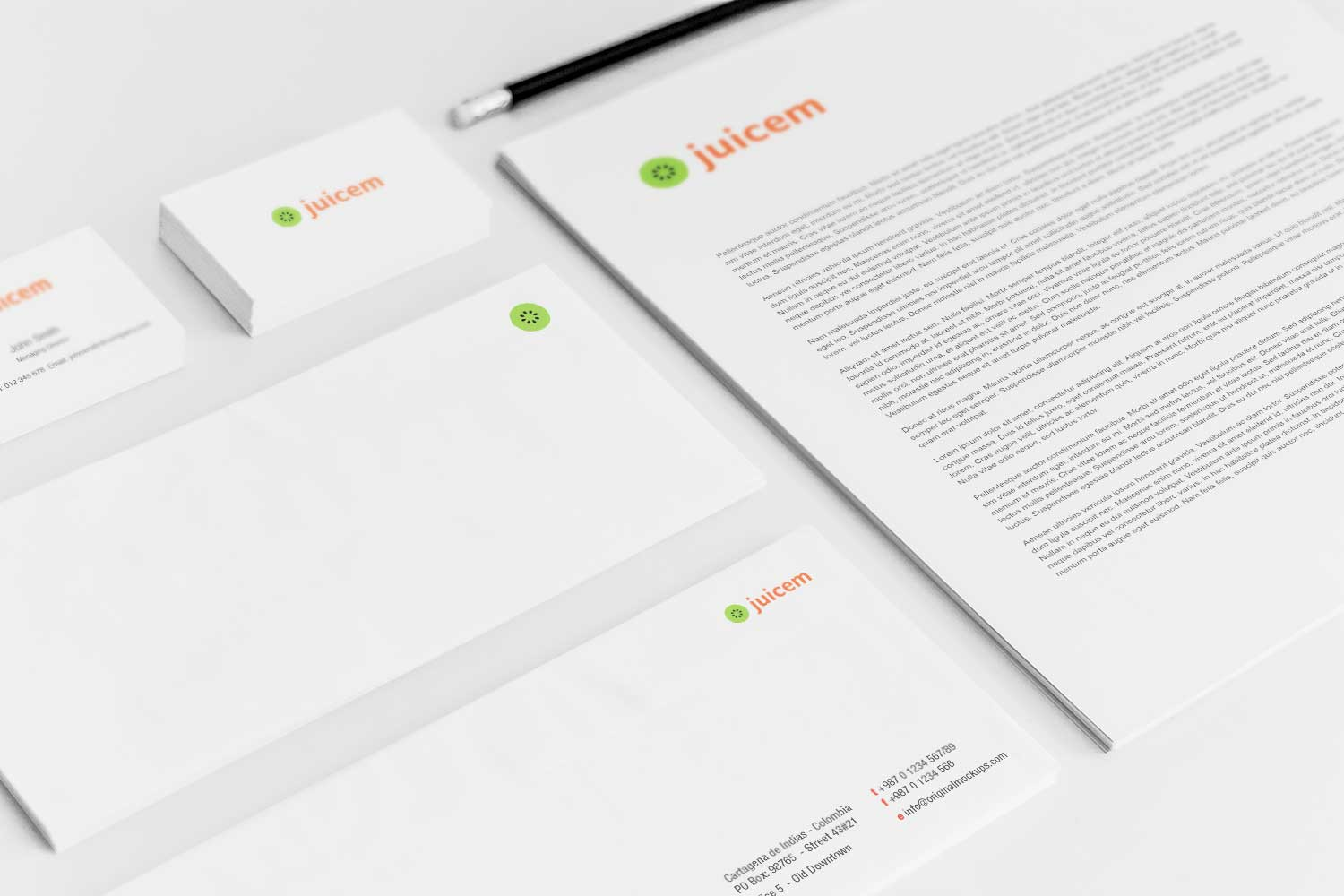 Sample branding #3 for Juicem