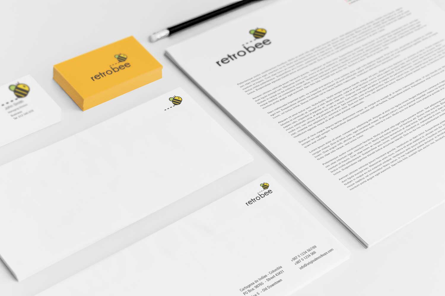Sample branding #3 for Retrobee