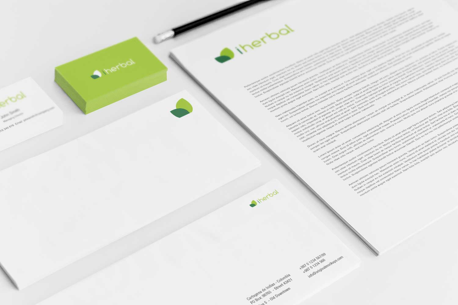 Sample branding #3 for Iherbal