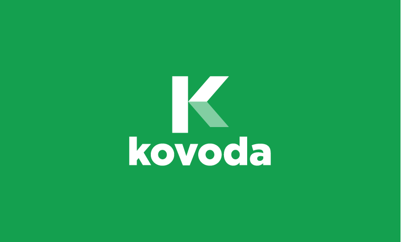 kovoda logo - Clean and modern business name