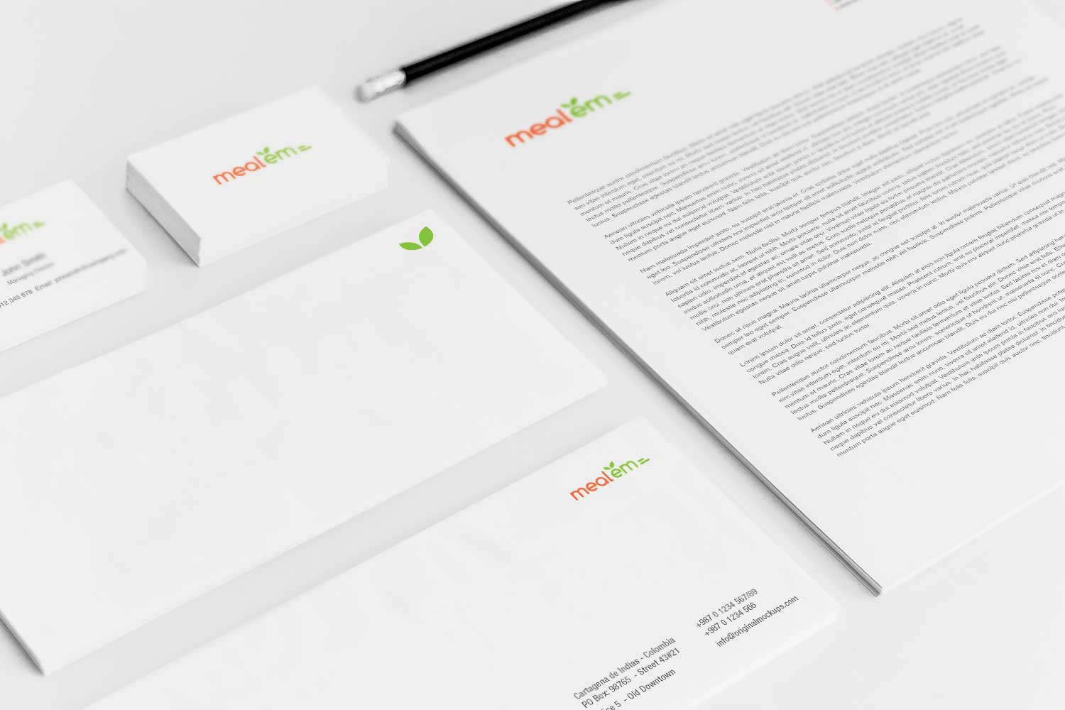 Sample branding #3 for Mealem