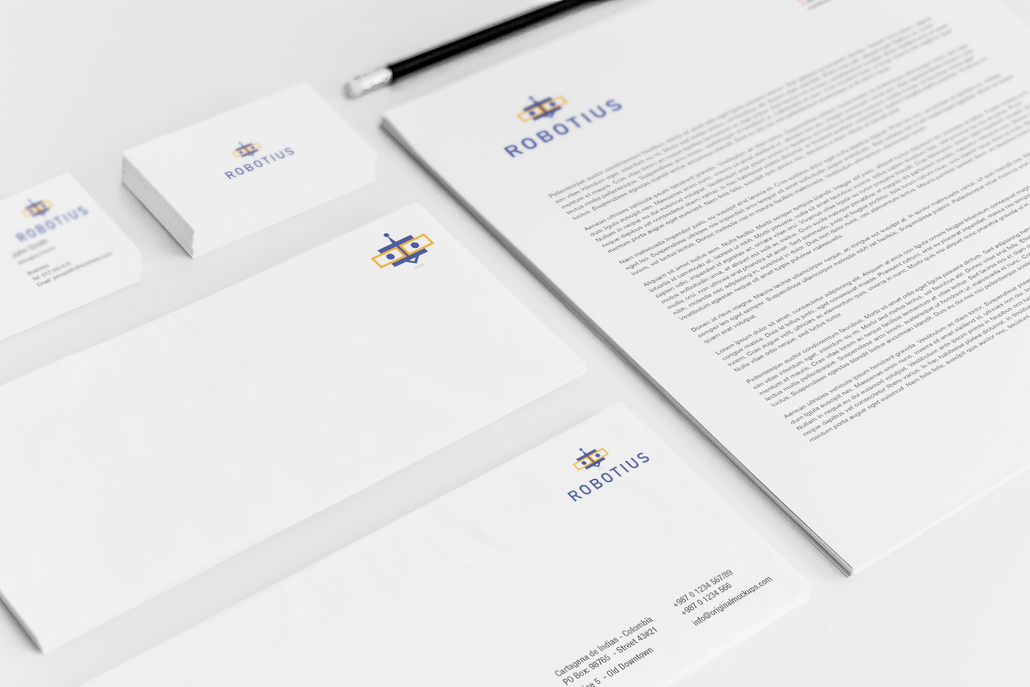 Sample branding #3 for Robotius