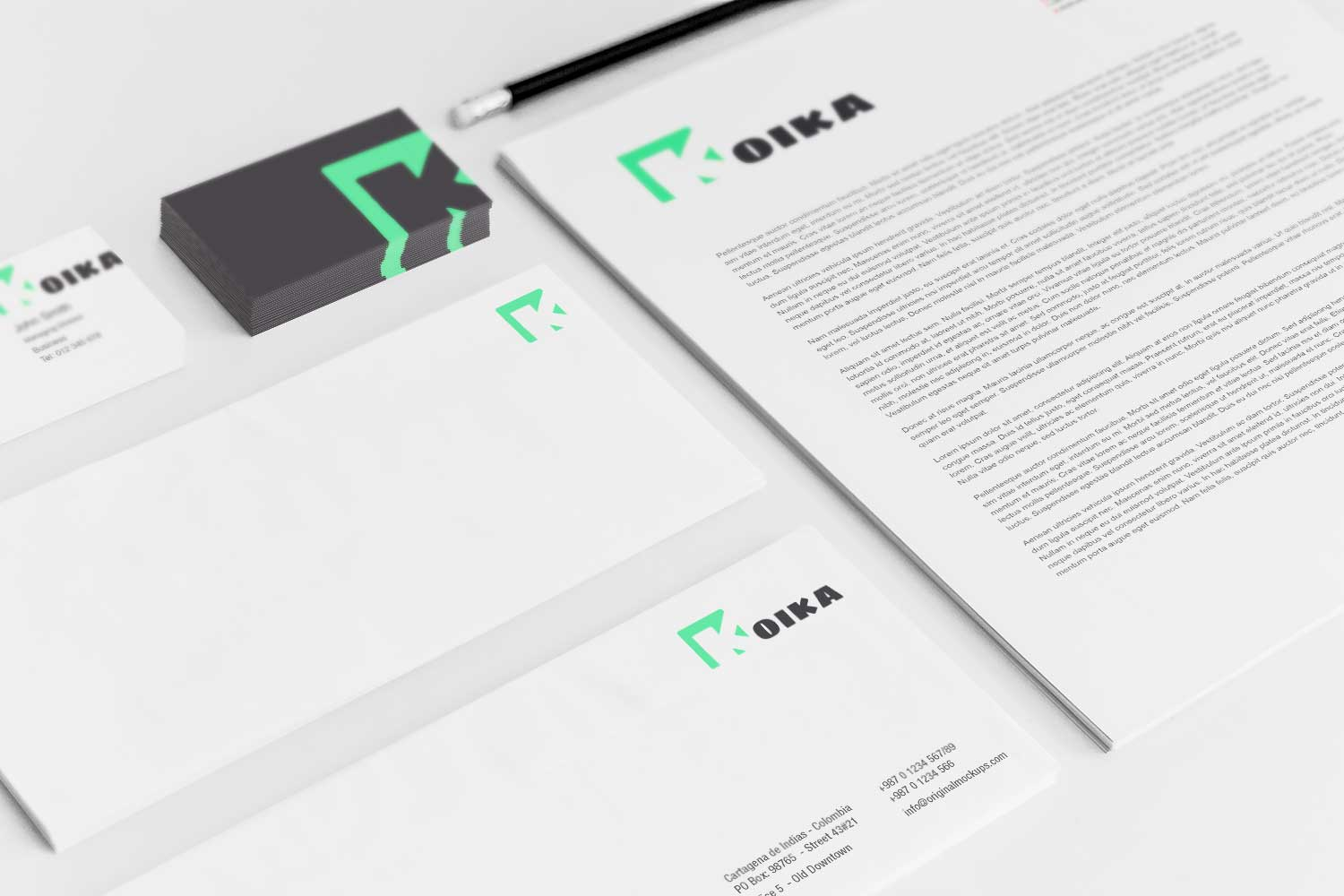 Sample branding #3 for Koika