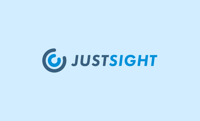 justsight logo - Plain business name that could suit a company in the tech, travel or healthcare industry