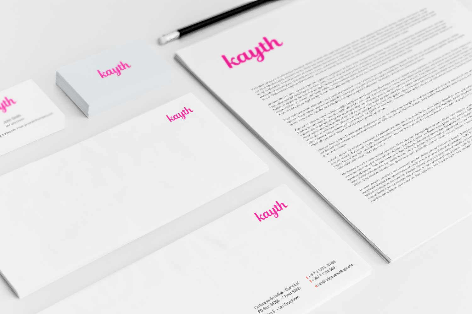 Sample branding #3 for Kayth